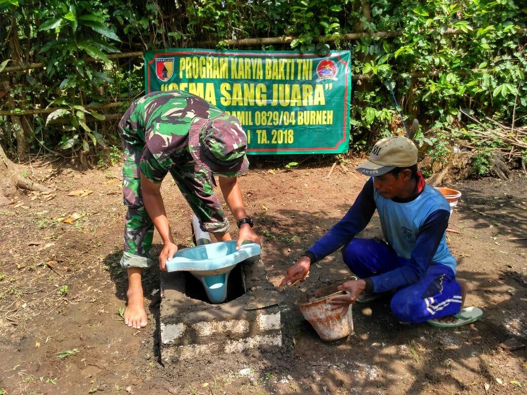 Koramil Burneh Bangkalan, Bangun Jamban Bagi Warga Kurang Mampu