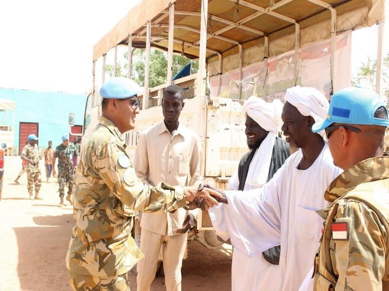 Satgas Yonkomposit TNI Resmikan Mushola dan Madrasah di Sudan