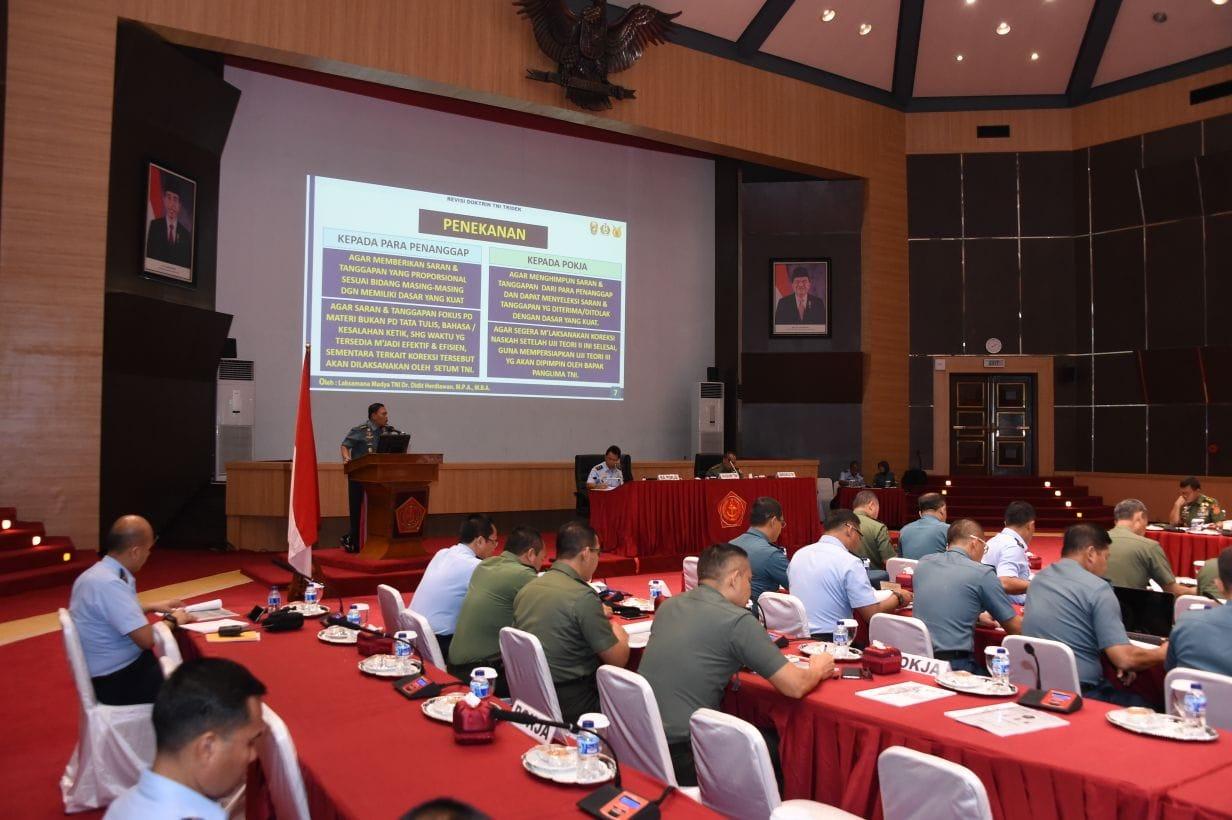 Kasum TNI : Doktrin TNI Menjawab Tantangan Tugas TNI Kedepan