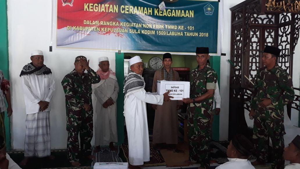 Satgas TMMD Kodim 1509/ Labuha Laksanakan Kegiatan Keagamaan Bersama Warga