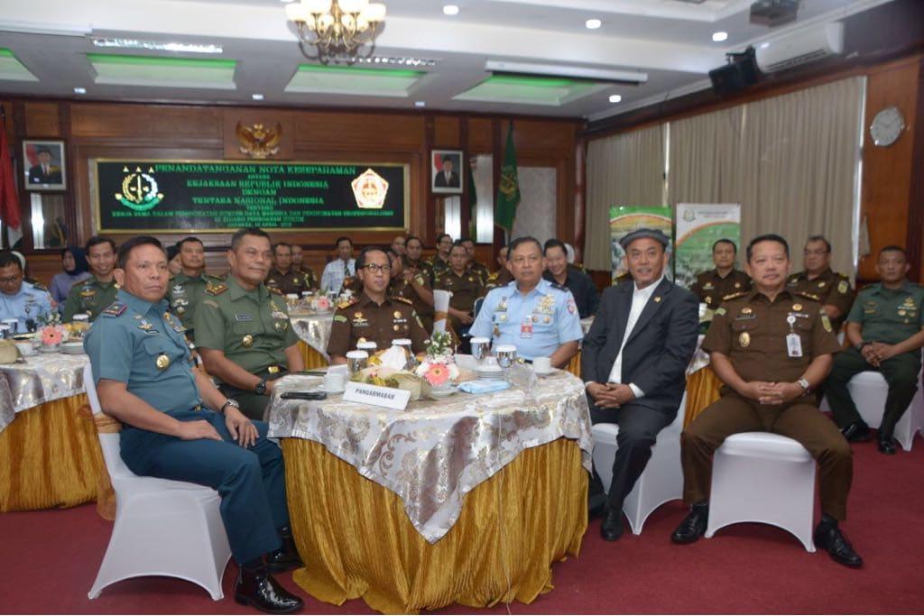 Pangdam Jaya Saksikan Penandatanganan MoU TNI Dengan Kejaksaan RI Melalui Video Conference