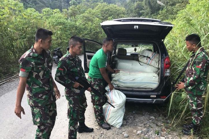 100 Kg Ganja Kering Berhasil Diamankan TNI di Aceh Tamiang