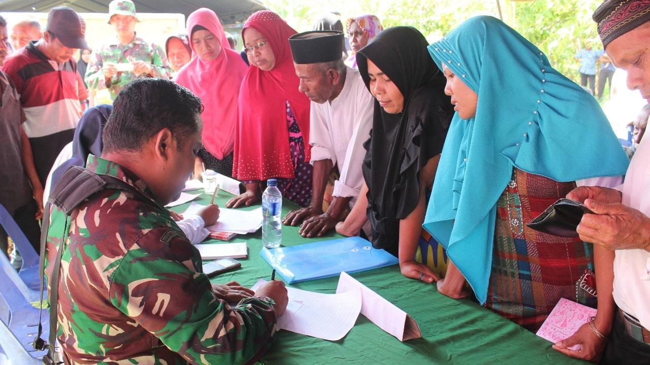 *Posko Pengobatan Gratis TMMD Aceh Timur Dipadati Warga*