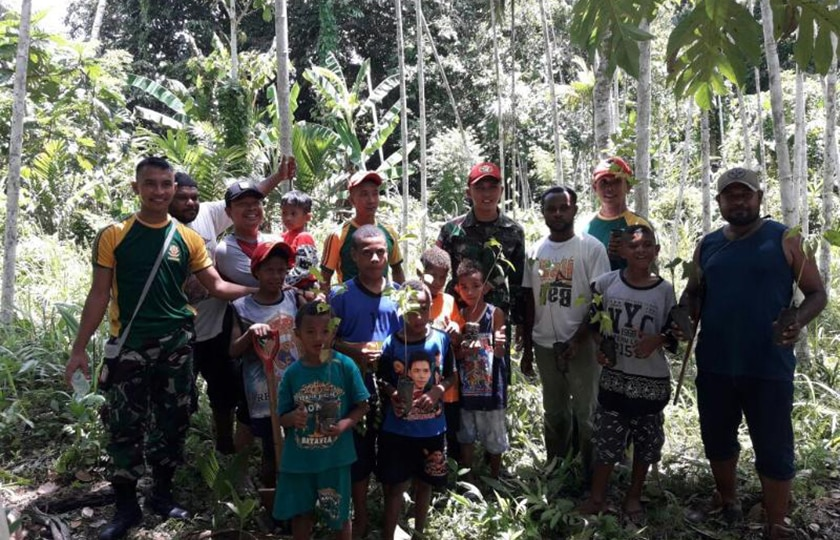 Hari Air Sedunia, Kostrad Adakan Penanaman Pohon Bersama Masyarakat
