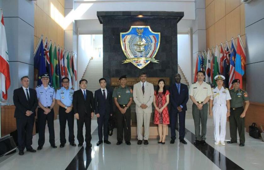 Komandan PMPP TNI Terima Kunjungan Delegasi PBB dan Jepang
