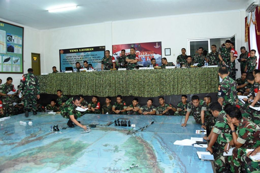 Uji Rencana Operasi, PPRC TNI Gelar Tactical Floor Game