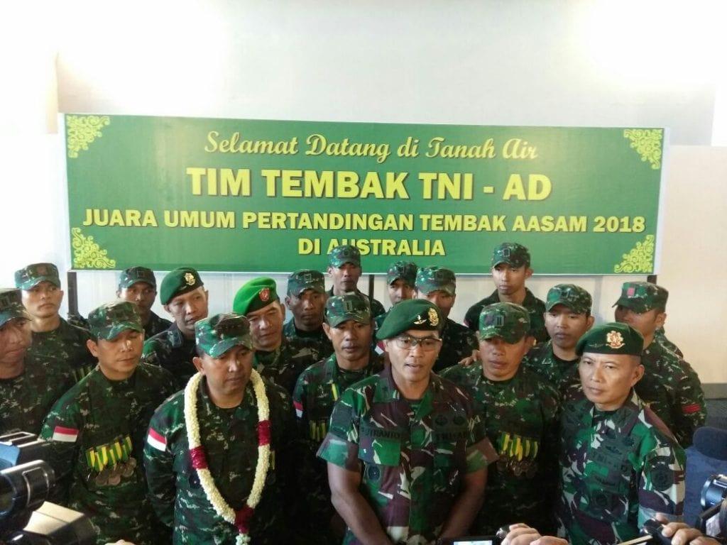 Tim Tembak TNI AD AASAM 2018 Tiba Di Tanah Air