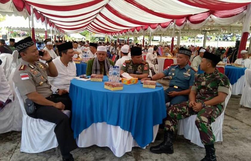 Sinergitas Tapal Batas, Tabligh Akbar TNI-Polri Nunukan Damai