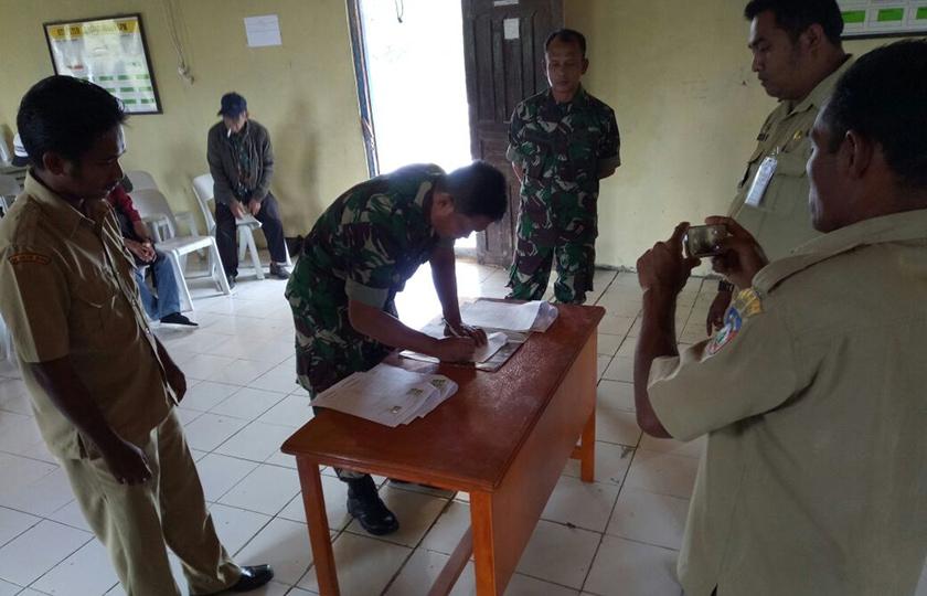 Rindu Kehadiran TNI, Masyarakat Hibahkan Tanah Untuk Pembangunan Koramil