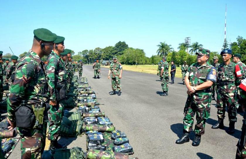 Komandan Kodiklat TNI Tinjau Gelar Pasukan PPRC TNI