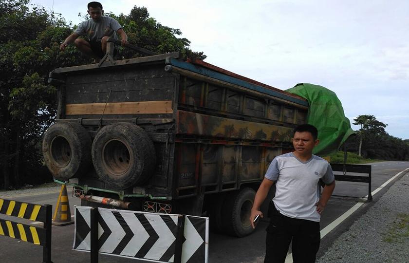Satgas Pamtas Yonif 511/Dy Gagalkan Aksi Illegal Logging