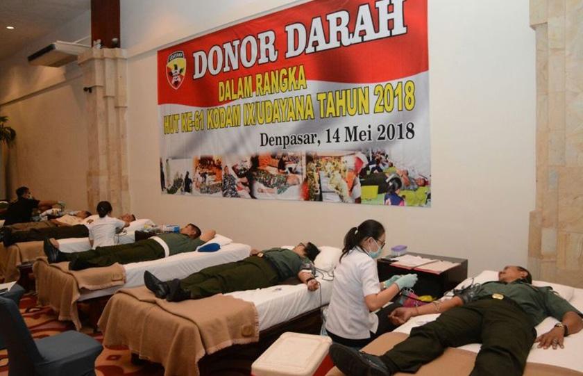 Kodam IX/Udy Gelar Donor Darah Untuk Sesama