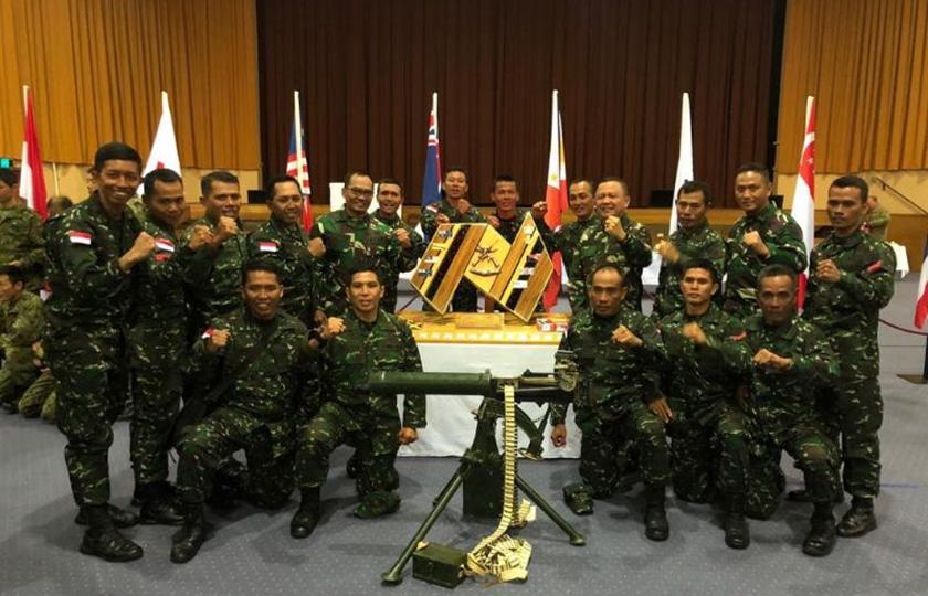TNI AD Juara Umum Lomba Tembak AASAM Tahun 2018 di Australia