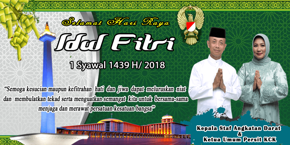 Ucapan Idul Fitri Kasad 2018