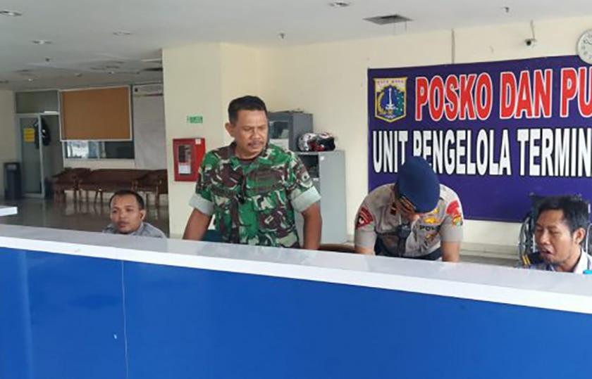 Kodim Jakarta Timur Bersinergi Amankan Arus Balik Lebaran di Terminal Pulo Gebang