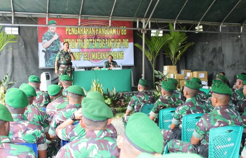 Pangdam I/BB Kunjungi Satgas Pamtas Yonif 121/MK di Perbatasan RI-PNG