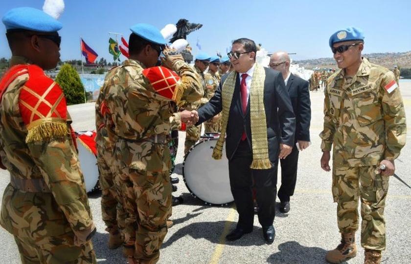 Wakil Ketua DPR RI Kunjungi Satgas Indobatt XXIII-L/UNIFIL di Lebanon