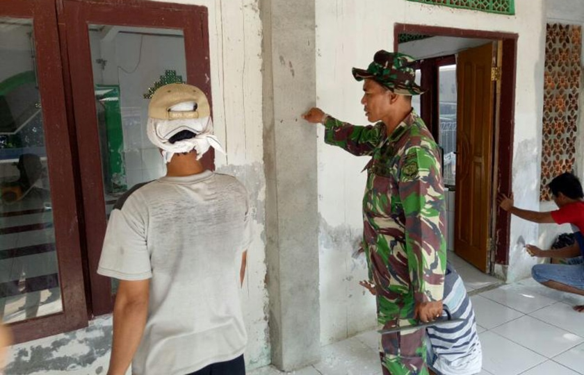 Satgas TMMD Renovasi Masjid di Tigaraksa