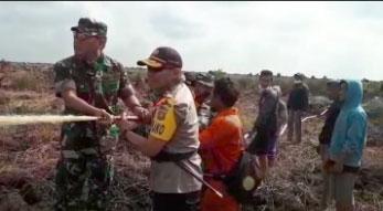 Pangdam II/Swj dan Polda Sulsel Pantau Kebakaran Hutan di OKI