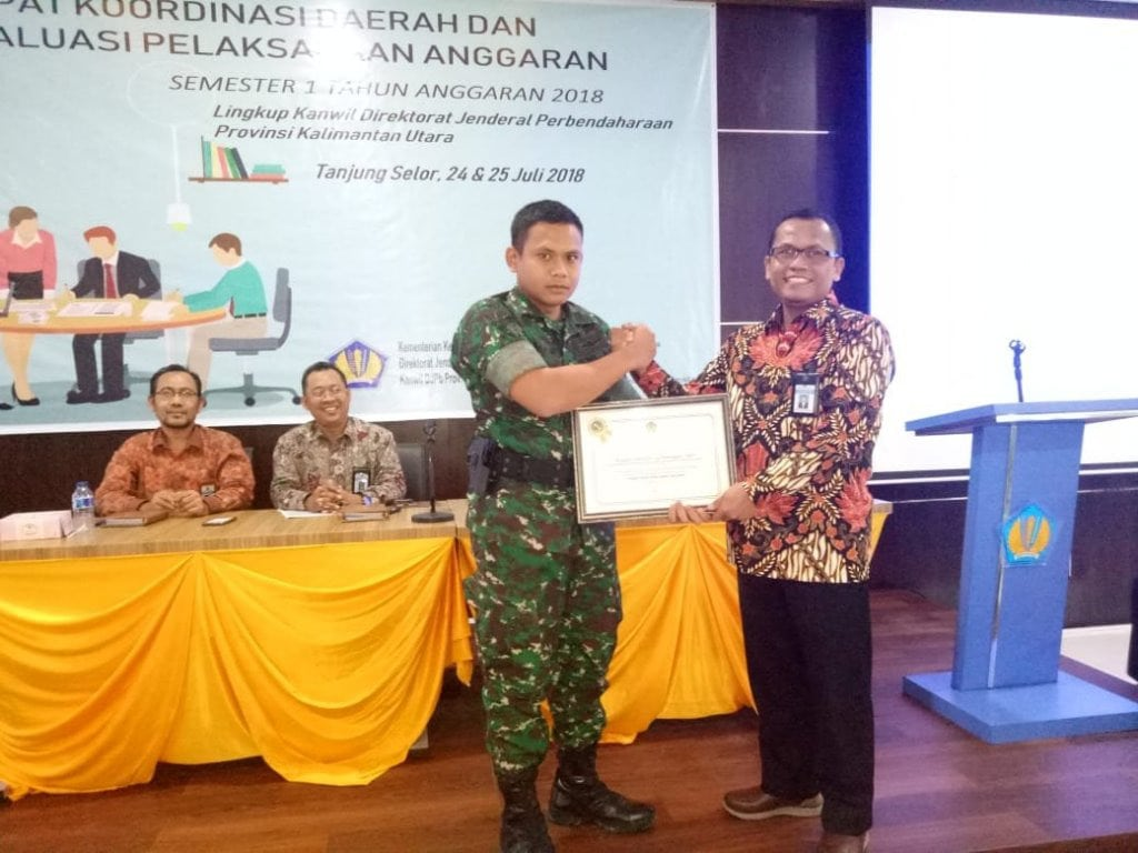 Brigif-24/BC Raih Penghargaan Terbaik Dari Direktorat Jenderal Perbendaharaan Kaltara