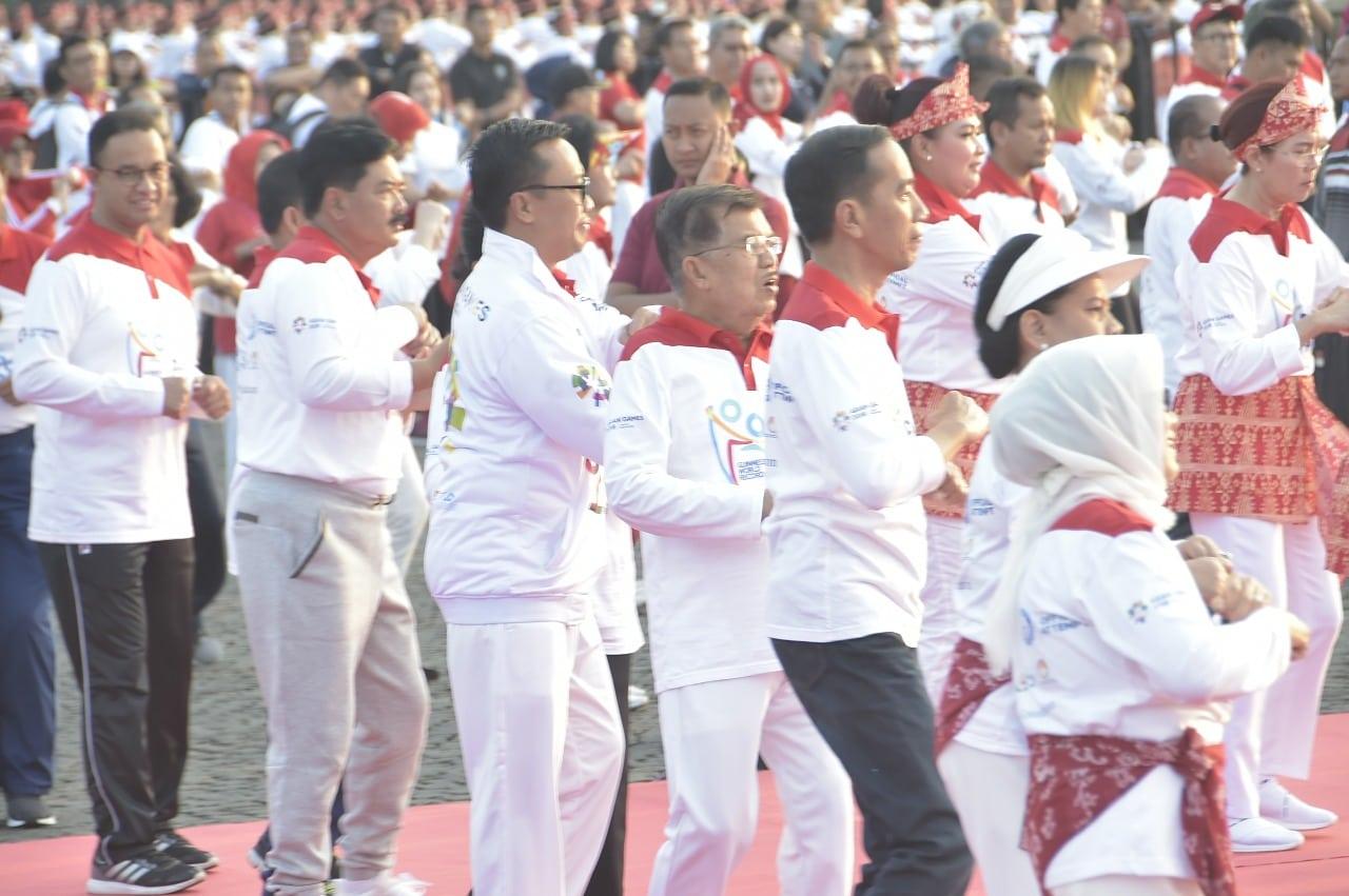 Panglima TNI Hadiri Pemecahan Rekor Dunia Senam Poco-Poco