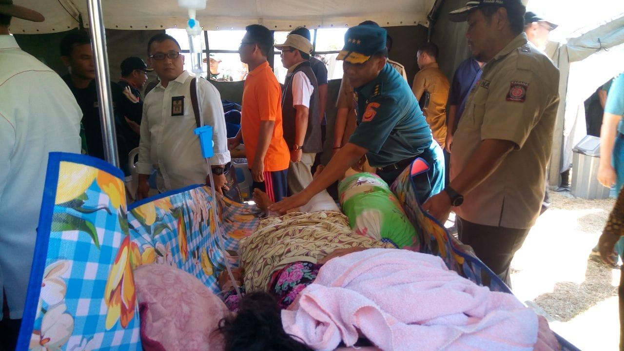 Kasum TNI Tinjau Rumah Sakit Lapangan dan Dapur Lapangan di Lombok