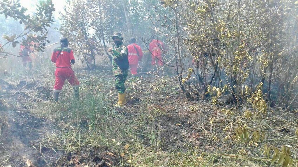 2 Heli BNPB dan Satgas Terpadu Tangani Karhutbunla di Wilayah Kodim 0402/OKI