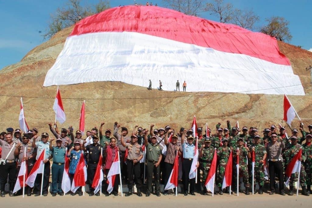 Tak Kalah Meriah, Suasana HUT Ke-73 Kemerdekaan RI di Tapal Batas