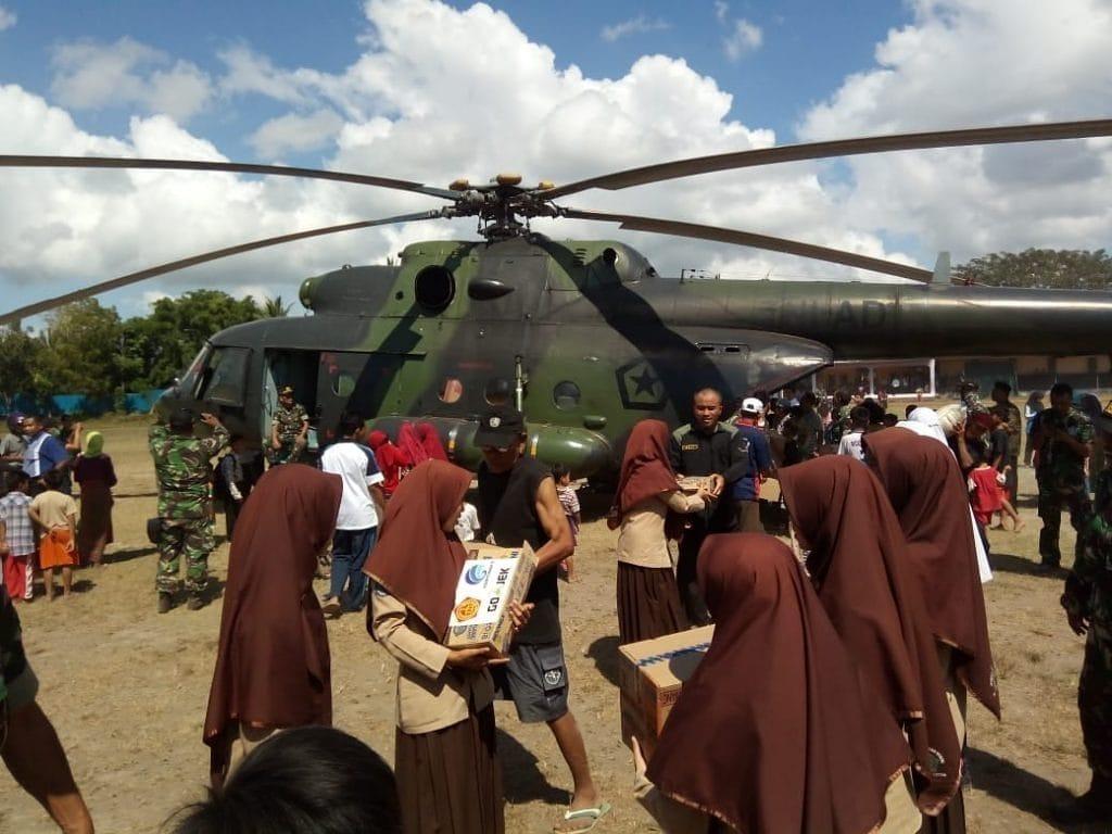 Pangdam IX/Udayana: Bantuan Logistik TNI Tiba di Daerah Bencana NTB