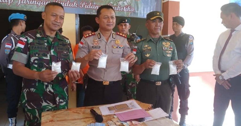 600 Gram Sabu Diamankan Tim Gabungan TNI-Polri di Perbatasan