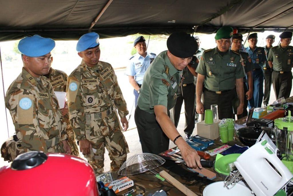 Waasops Panglima TNI Pimpin Gelar Kesiapan Personel dan Perlengkapan Satgas Kizi TNI Konga XXXVII-E/MINUSCA CAR