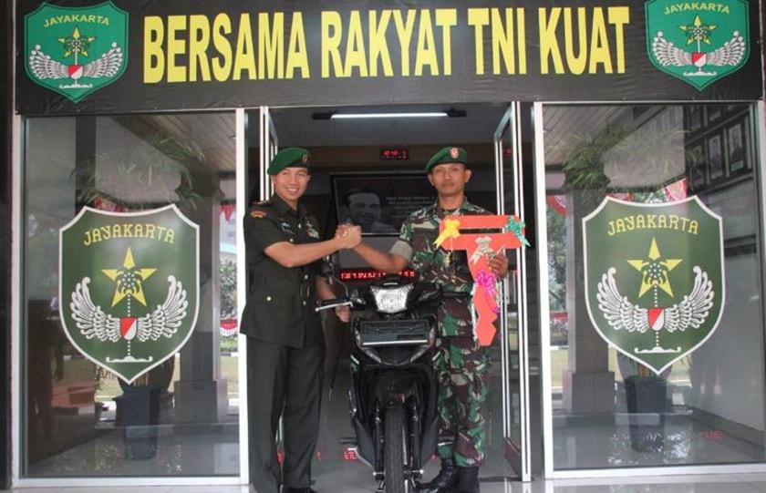 Motor untuk Babinsa Terbaik Kodim Jakarta Pusat