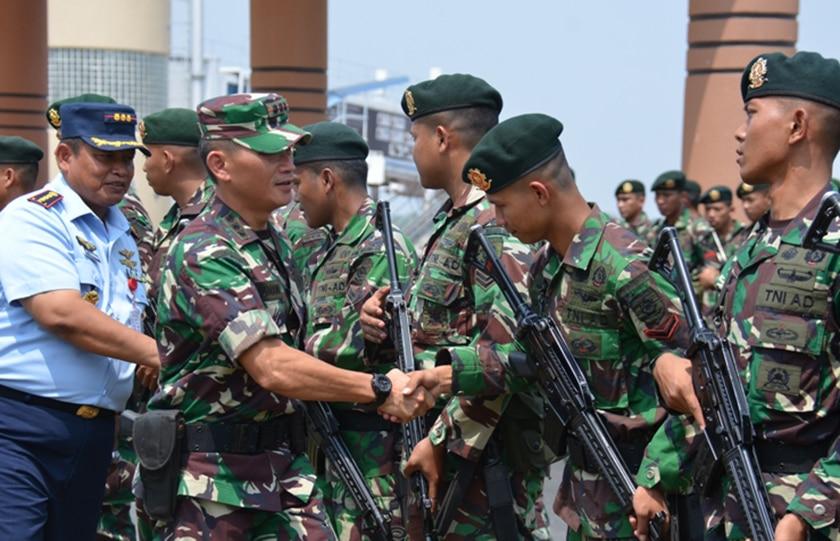 Satgas Karhutbunla Sumsel Terima 200 Prajurit BKO Mabes TNI