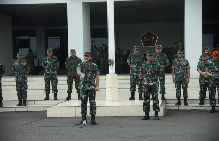 Panglima TNI Kunjungi Markas Komando Kodiklat TNI