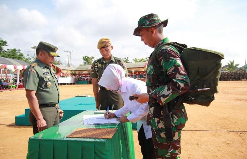 Pangdam VI/ Mulawarman Tutup TMMD Kodim 0908/Bontang