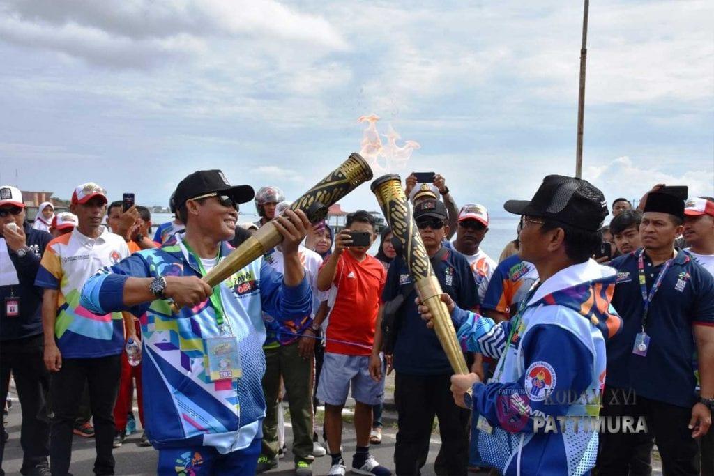 Pangdam-Danrem Ikuti Pawai Obor Asian Para Games 2018