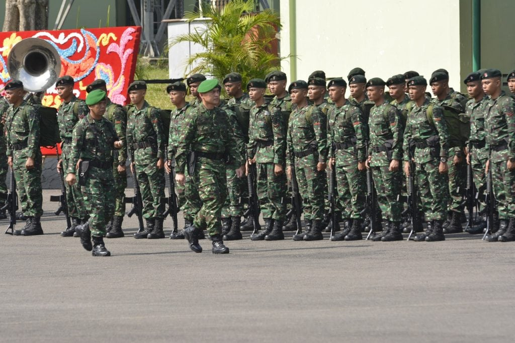 Prajurit Raider Kodam II/Swj Latihan Raider di Batujajar