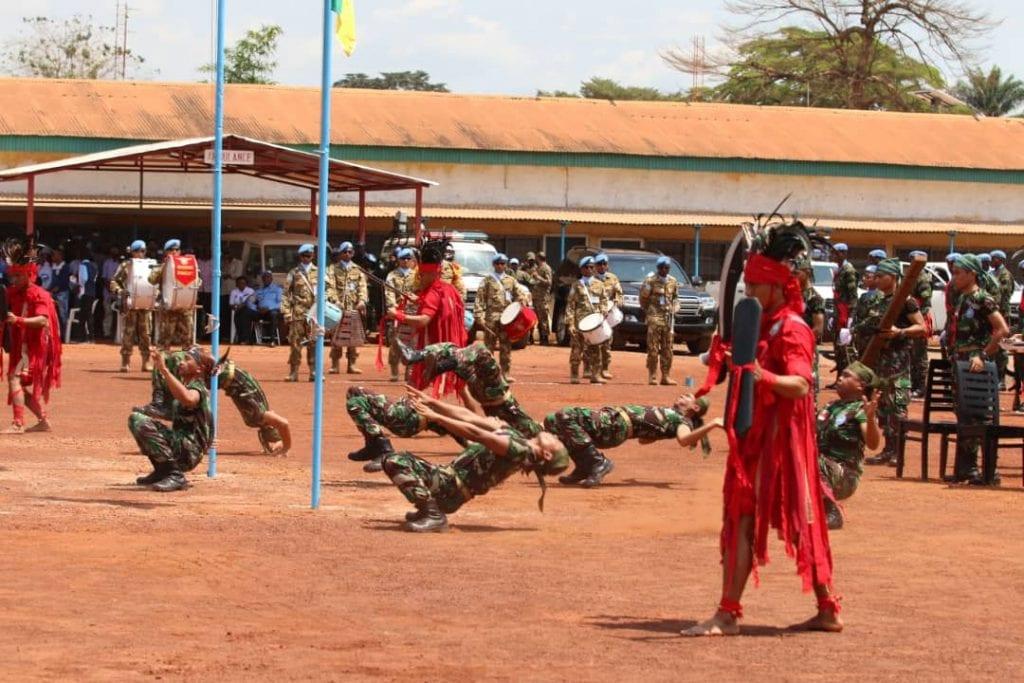 Pagelaran kesenian Cakalele dan Seni Debus, Menghiasi Upacara Peringatan United Nations di Afrika Tengah
