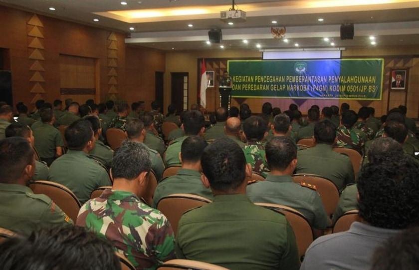 Kodim 0501/Jakarta Pusat Wujudkan Prajurit Bebas Narkoba