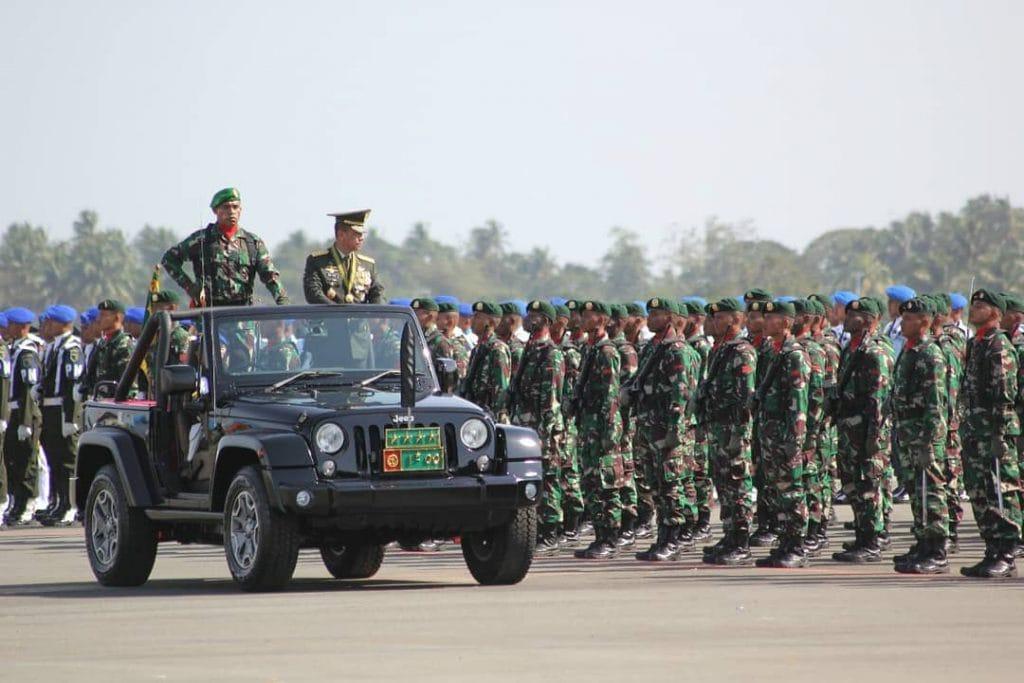 Kol Inf Wempi Ramandei, Putra Asli Serui Sukses jadi Danup Upacara HUT ke-73 TNI di Merauke