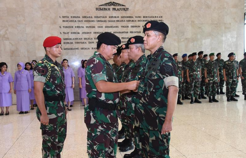 Panglima TNI Pimpin Sertijab Tiga Pejabat Teras Mabes TNI
