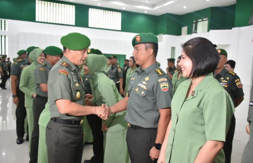 Pangdam I/BB Pimpin Upacara Laporan Korps Kenaikan Pangkat Pamen