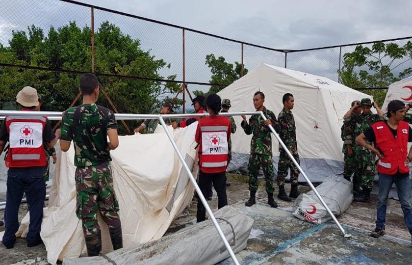 TNI Dirikan Hunian Sementara bagi Pengungsi di Balaroa Palu Barat