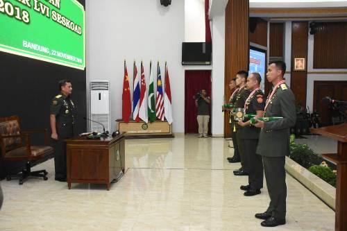Kasad : Lulusan Seskoad Motor Penggerak TNI AD yang Berkarakter dan Berintegritas Tinggi