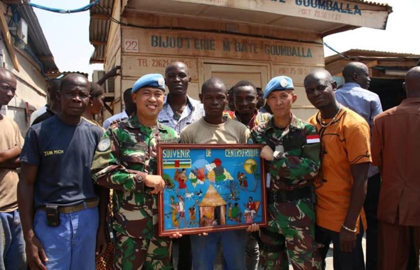 Satgas Kizi TNI Konga XXXVII-E MINUSCA CAR Dukung Pembangunan Pasar Tradisional di Republik Afrika Tengah