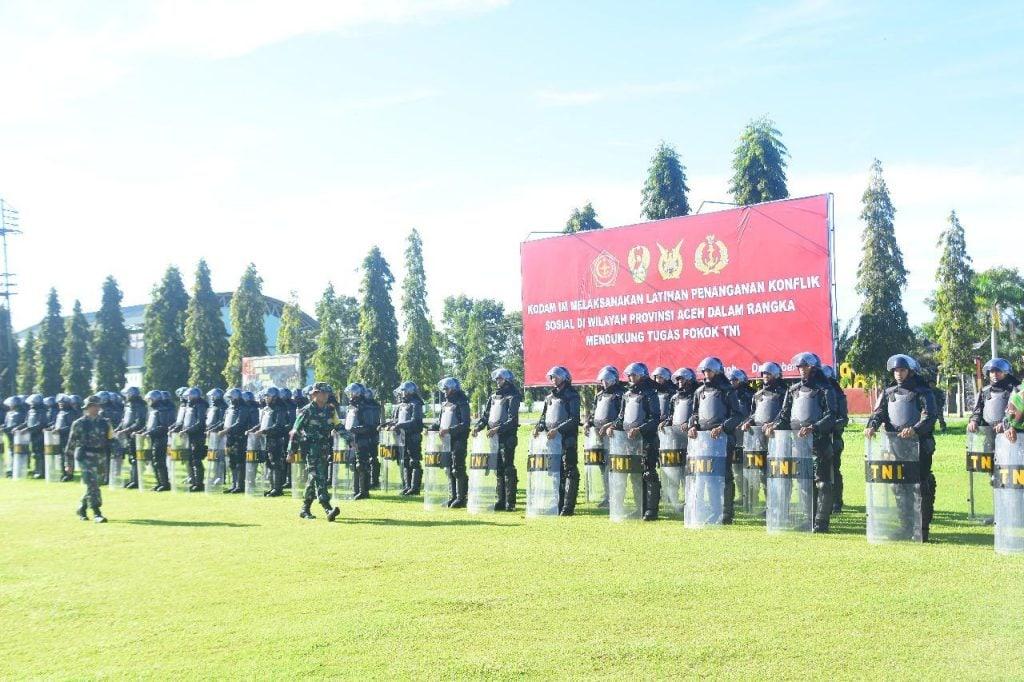 Korem 012/TU Gelar Latihan Penanganan Konflik Sosial.