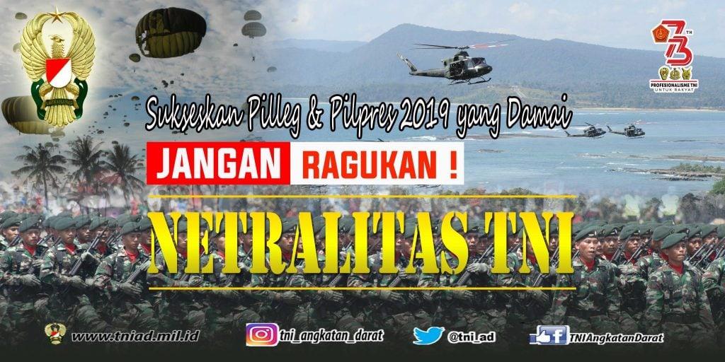 Banner Netralitas TNI