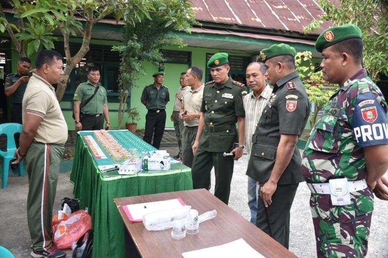 Cegah Narkoba di Lingkungan TNI AD, Korem 091/ASN Tes Urine Dadakan