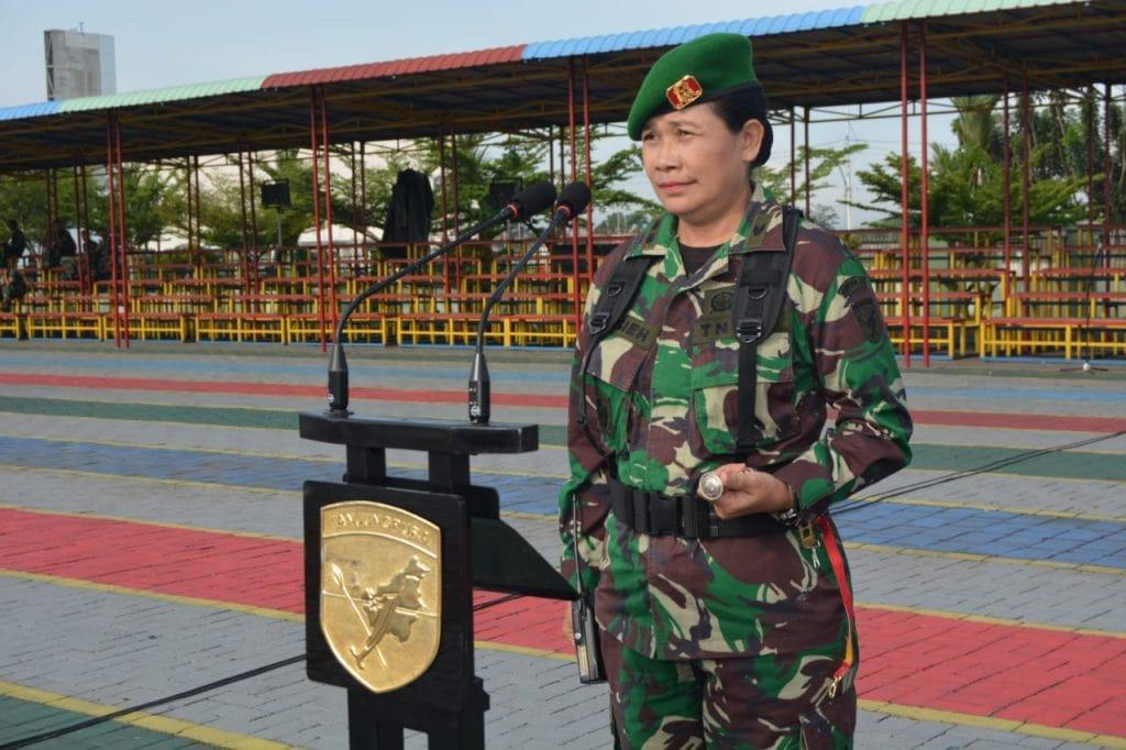 Letkol Chb (K) Elsieh Komandan Detasemen Perhubungan Kodam XII/Tanjungpura.