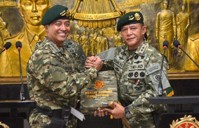 Mayjen TNI Besar Harto Karyawan Resmi Jabat Pangkostrad